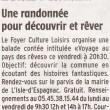 Une randonnée pour découvrir et pour rêver, Charente Libre, 06/06/2012