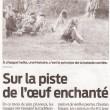 Sur la piste de l'œuf enchanté, Sud Ouest, 15/06/2012