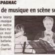 Les ateliers de musique en scène samedi, Charente Libre, 21/06/2012