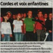 Cordes et voix enfantines, Sud-Ouest, 11/06/2013
