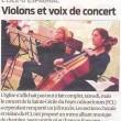 Violons et voix de concert, Sud-Ouest, 20/12/12