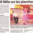 Méli Mélo sur les planches, Sud Ouest, 27/03/2013