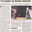 Théâtre : le public va s'en payer une bonne tranche !, Charente Libre, 05/04/2013