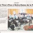Concert pour Fleur d'Isa à Notre-Dame de la Paix, Courrier français de Charente, 05/04/2013