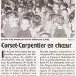 Corset-Carpentier en chœur, Charente Libre, 04/06/2013